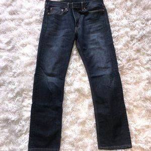 Men's LEVI Slim Fit Blue Washed Out Jeans 34x32